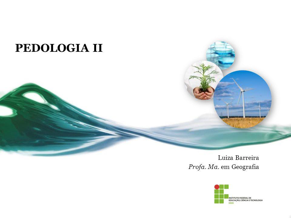 PEDOLOGIA II Luiza Barreira Profa. Ma. em Geografia