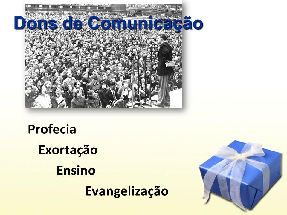 Profecia Exortação Ensino Evangelização Dons de Comunicação
