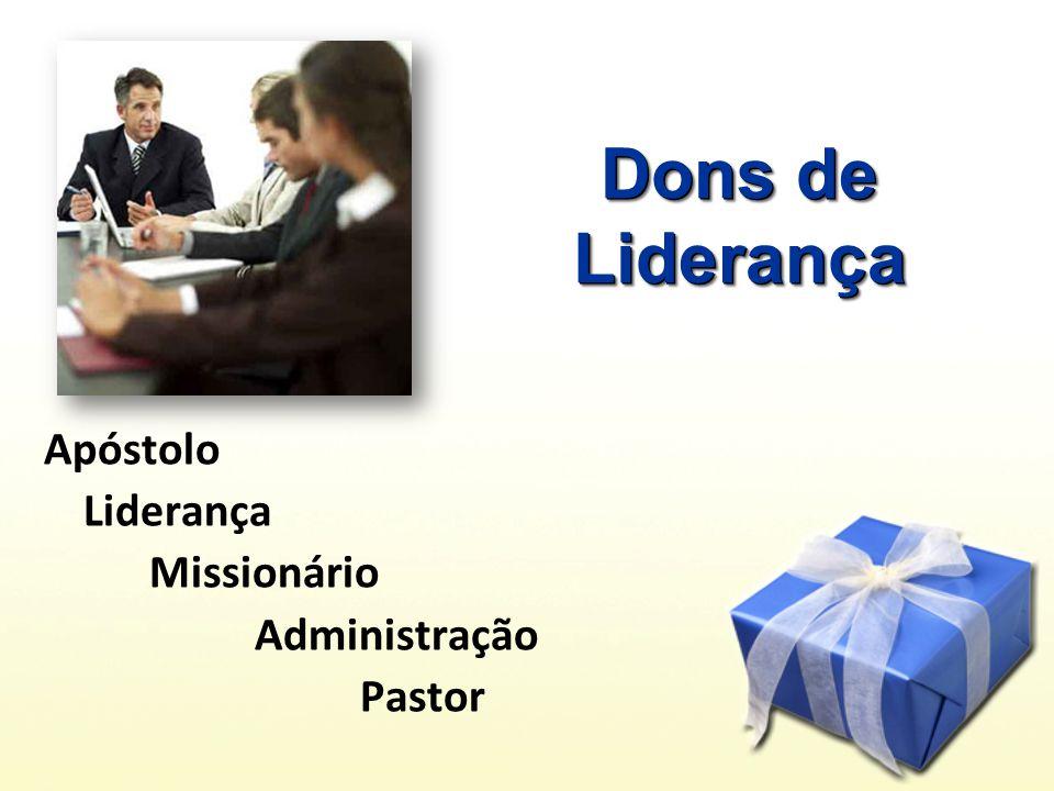 Apóstolo Liderança Missionário Administração Pastor Dons de Liderança