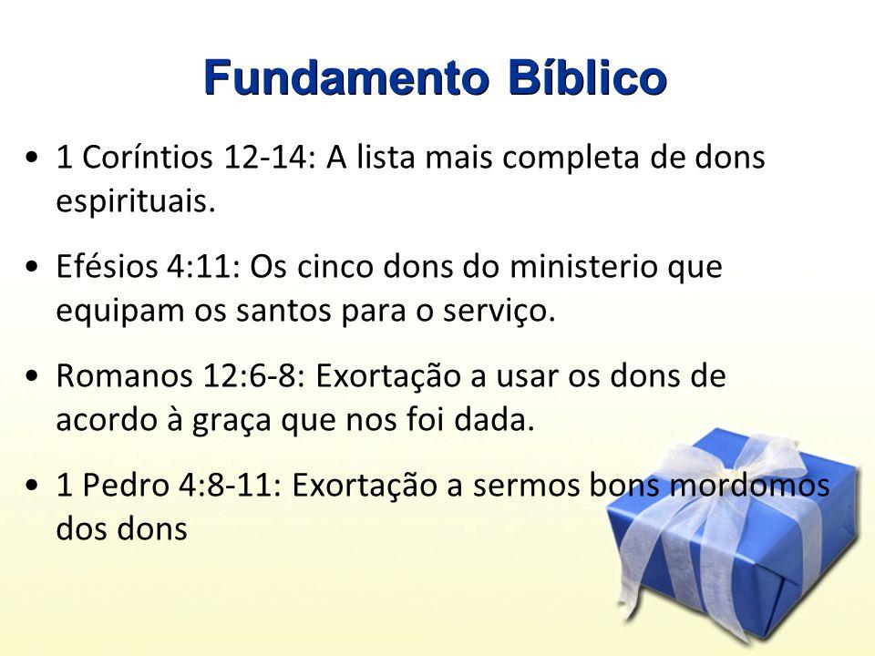 Fundamento Bíblico 1 Coríntios 12-14: A lista mais completa de dons espirituais.