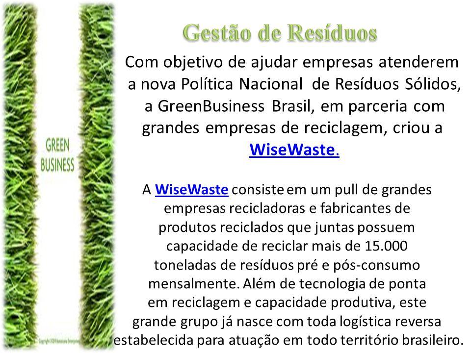 A WiseWaste é o resultado da união de grandes empresas do setor, que possuem tecnologias avançadas de reciclagem, logística reversa e realizam pesquisas e desenvolvimento de novas soluções para a área.