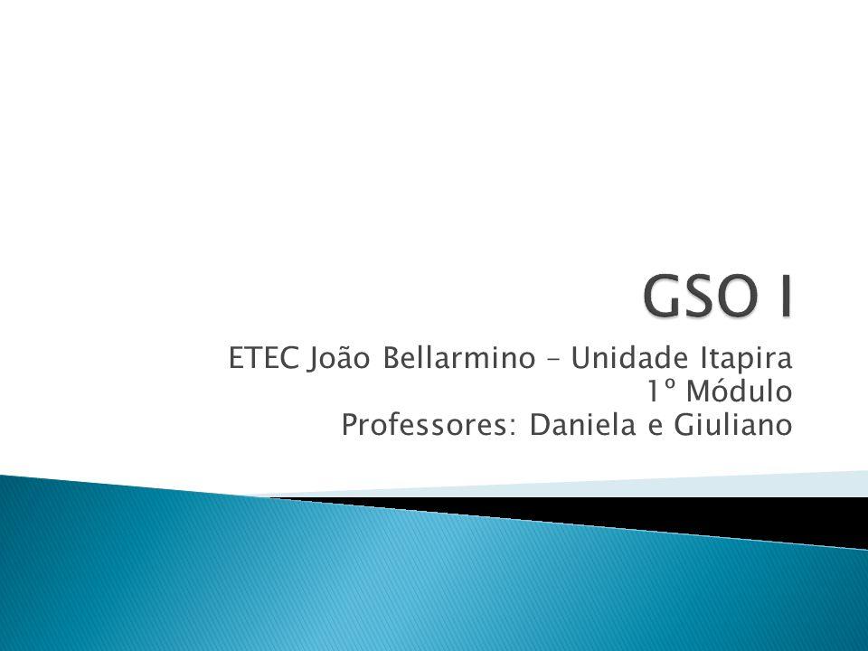 ETEC João Bellarmino – Unidade Itapira 1º Módulo Professores: Daniela e Giuliano
