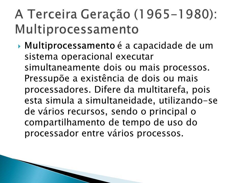 Multiprocessamento é a capacidade de um sistema operacional executar simultaneamente dois ou mais processos. Pressupõe a existência de dois ou mais pr