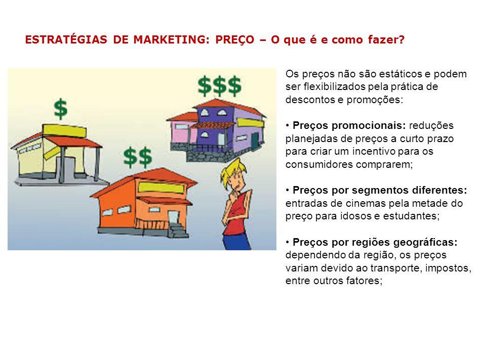 ESTRATÉGIAS DE MARKETING: PREÇO – O que é e como fazer? Os preços não são estáticos e podem ser flexibilizados pela prática de descontos e promoções: