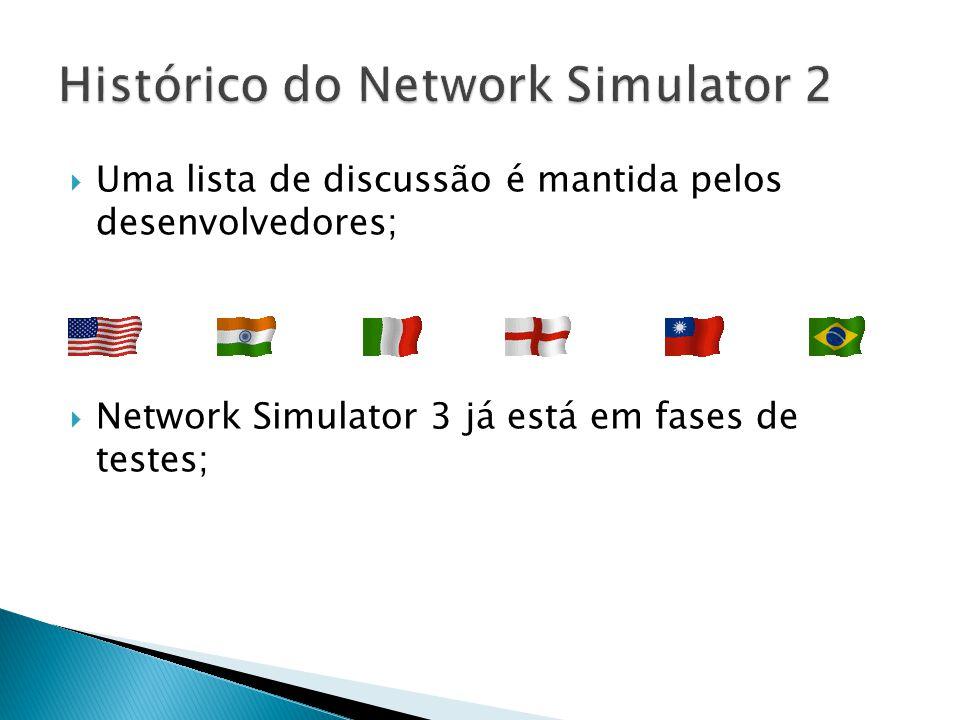 Uma lista de discussão é mantida pelos desenvolvedores; Network Simulator 3 já está em fases de testes;