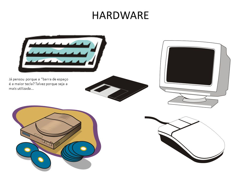 HARDWARE Já pensou porque a barra de espaço é a maior tecla? Talvez porque seja a mais utilizada...