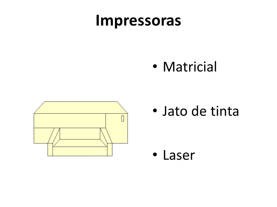 Impressoras Matricial Jato de tinta Laser