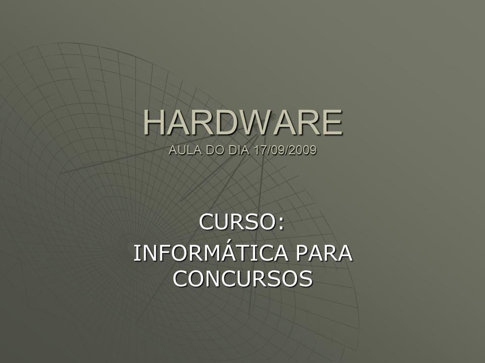HARDWARE AULA DO DIA 17/09/2009 CURSO: INFORMÁTICA PARA CONCURSOS