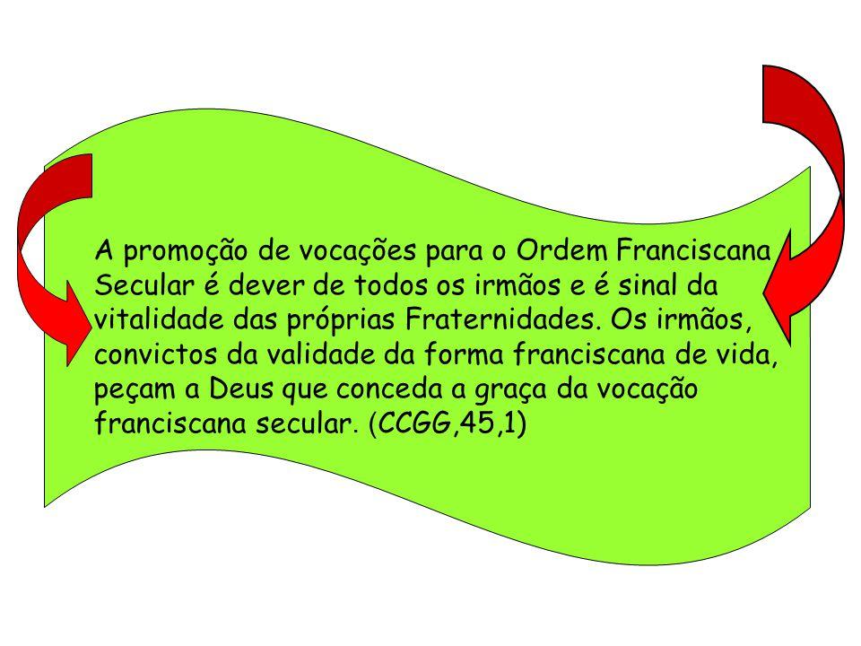 Ser Franciscano Secular é participar das transformações do mundo, perseverando na fé, no amor ao Pai e aos irmãos.