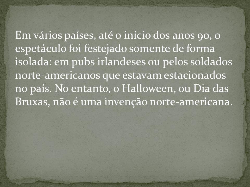 Hoje, o símbolo mais destacado do Halloween é a abóbora oca, talhada em forma de careta e iluminada de dentro.