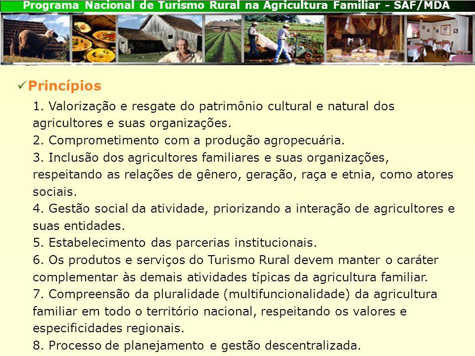Programa Nacional de Turismo Rural na Agricultura Familiar - SAF/MDA 1.