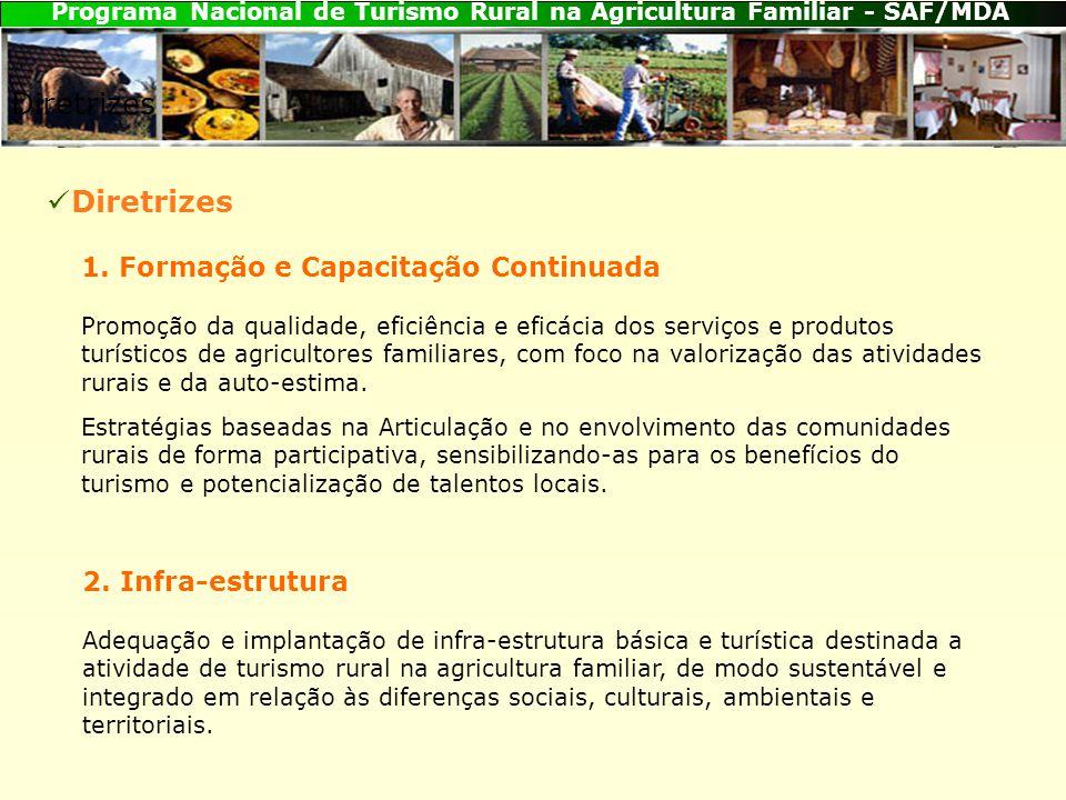 Programa Nacional de Turismo Rural na Agricultura Familiar - SAF/MDA Diretrizes 1.
