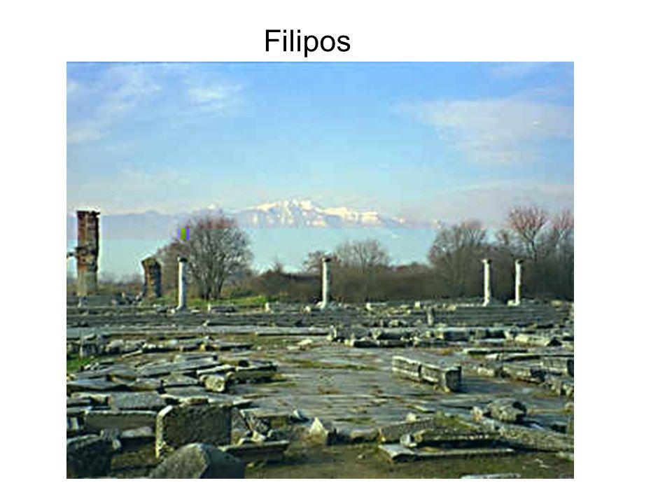 Paulo seguiu o Caminho Egnatia de Neápolis a Filipos, que era uma colônia e principal cidade da Macedônia.