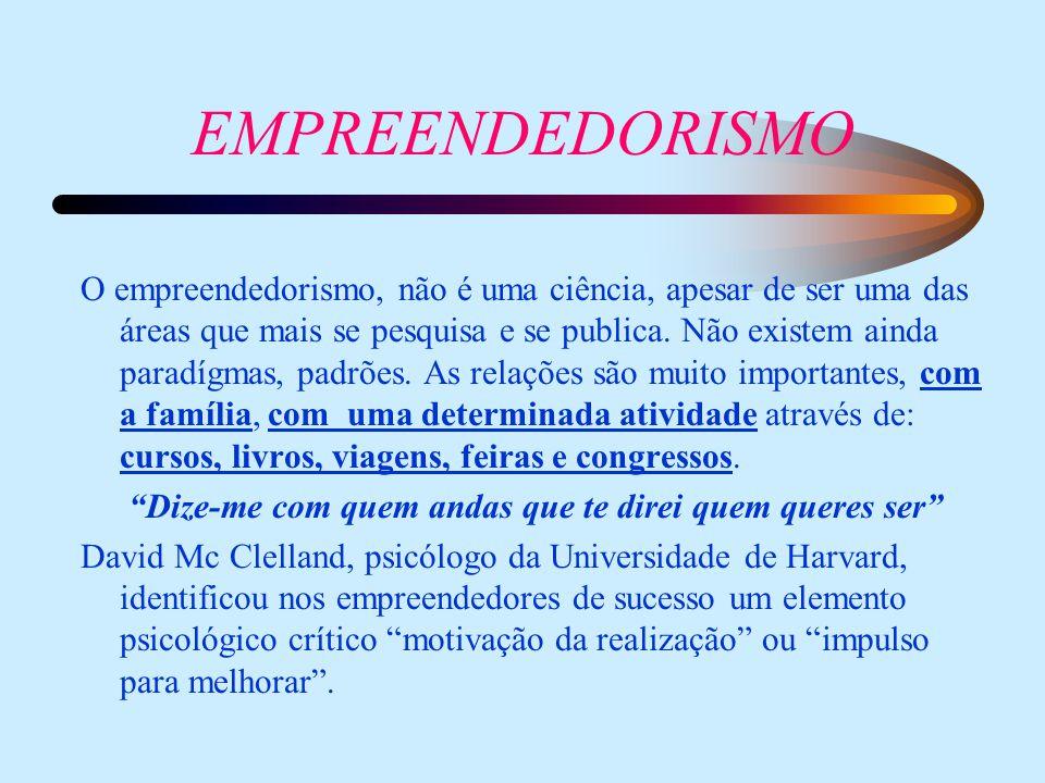 O empreendedorismo, não é uma ciência, apesar de ser uma das áreas que mais se pesquisa e se publica.