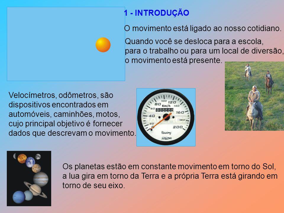 Duas grandezas são fundamentais para a descrição do movimento: O tempo e o espaço.