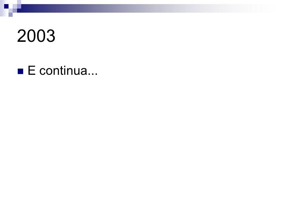 2003 E continua...