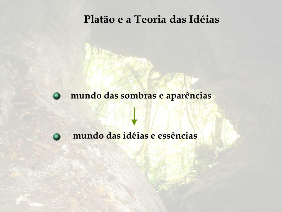 Platão e a Teoria das Idéias mundo das sombras e aparências mundo das idéias e essências