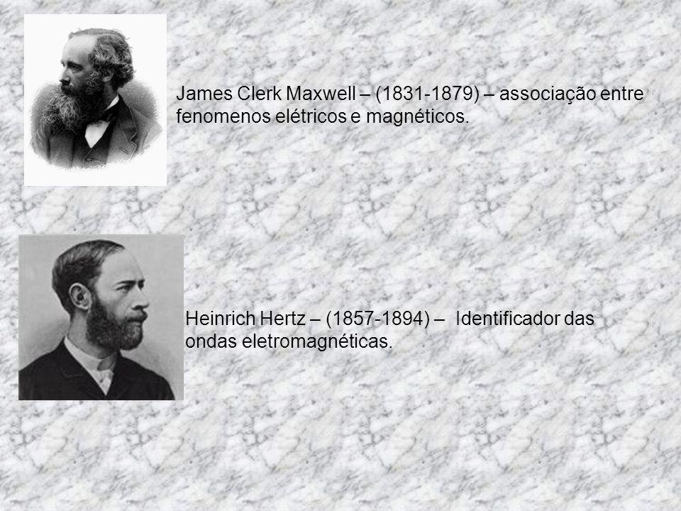 Hans Christian Oersted – (1777-1851) – interações entre eletricidade e magnetismo. André-Marie Ampère – (1775-1836) – interações entre correntes elétr