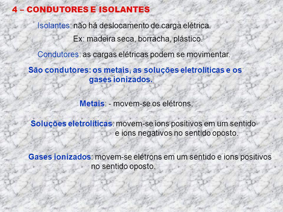 3 – CORPO NEUTRO E CORPO ELETRIZADO Um corpo é dito eletricamente neutro quando o número de prótons é igual ao número de elétrons. Um corpo é dito ele