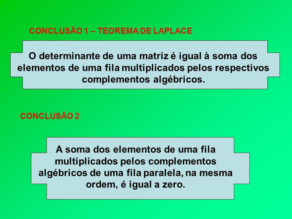 Exercícios 1 - Usando as propriedades calcule os determinantes das matrizes: 2 - Aplicando as propriedades, calcule os determinantes das matrizes: