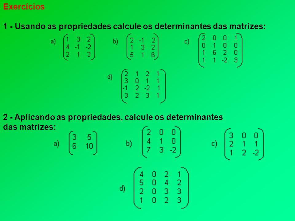 3 - Crie duas matrizes quadradas de ordem 2x2 e verifique se as igualdades a seguir são falsas ou verdadeiras.
