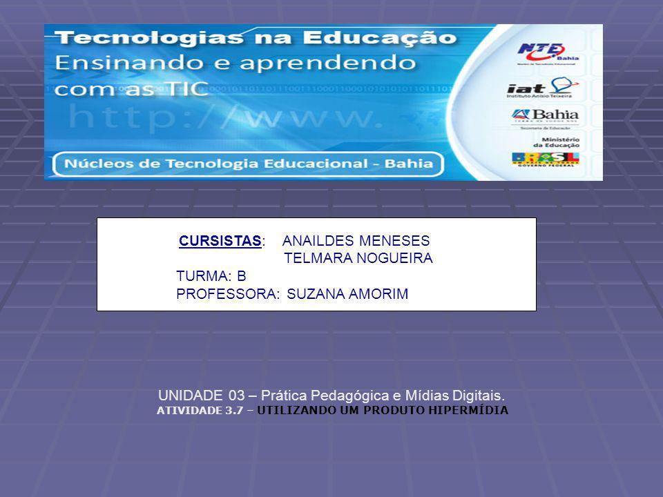 UNIDADE 03 – Prática Pedagógica e Mídias Digitais.