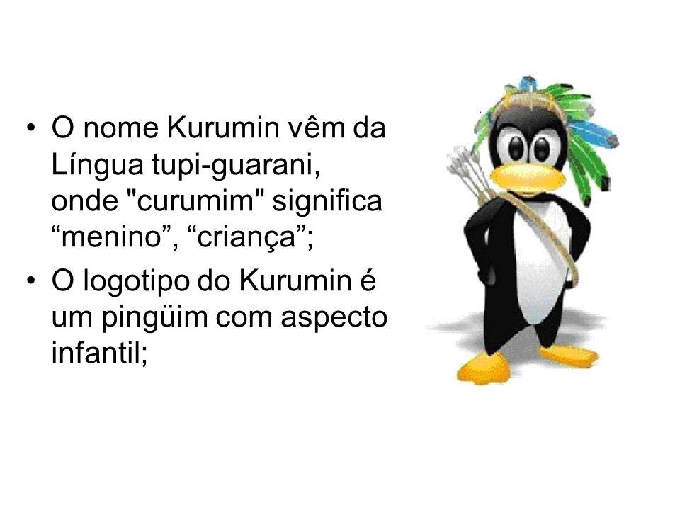 O nome Kurumin vêm da Língua tupi-guarani, onde curumim significa menino, criança; O logotipo do Kurumin é um pingüim com aspecto infantil;