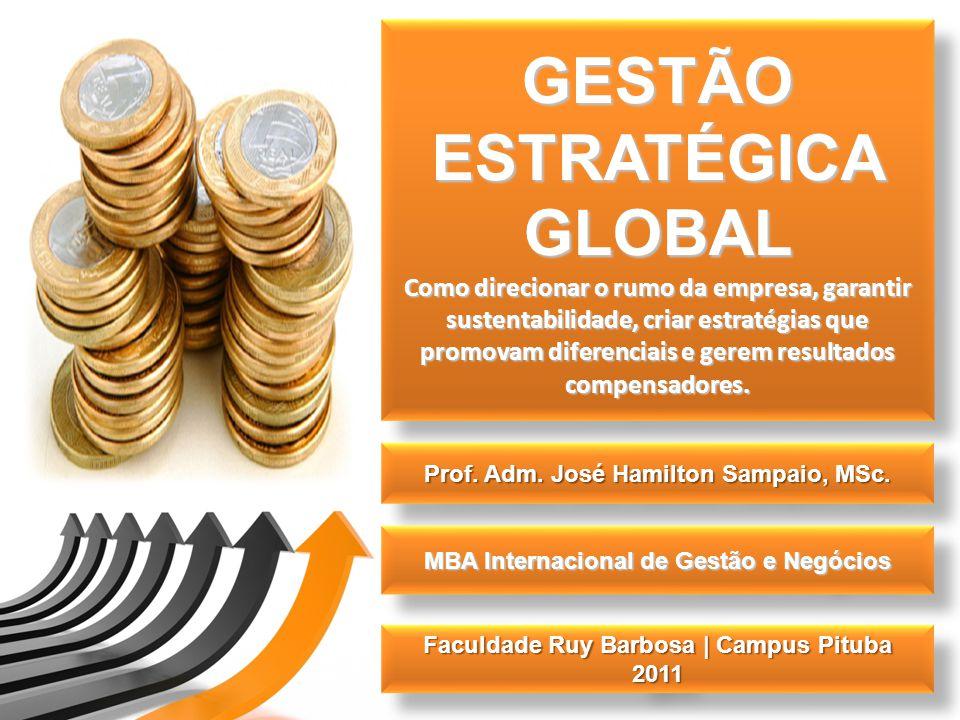 GESTÃO ESTRATÉGICA GLOBAL Como direcionar o rumo da empresa, garantir sustentabilidade, criar estratégias que promovam diferenciais e gerem resultados