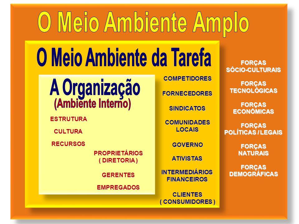 PROPRIETÁRIOS ( DIRETORIA ) GERENTES EMPREGADOS COMPETIDORES FORNECEDORES SINDICATOS COMUNIDADESLOCAIS GOVERNO ATIVISTAS INTERMEDIÁRIOSFINANCEIROS CLI