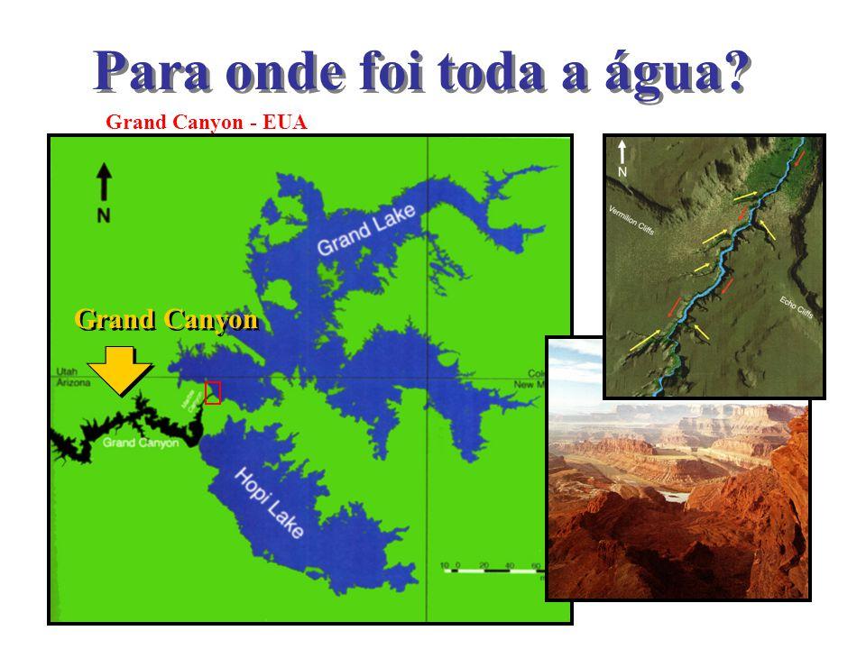 Grand Canyon - EUA Para onde foi toda a água? Grand Canyon