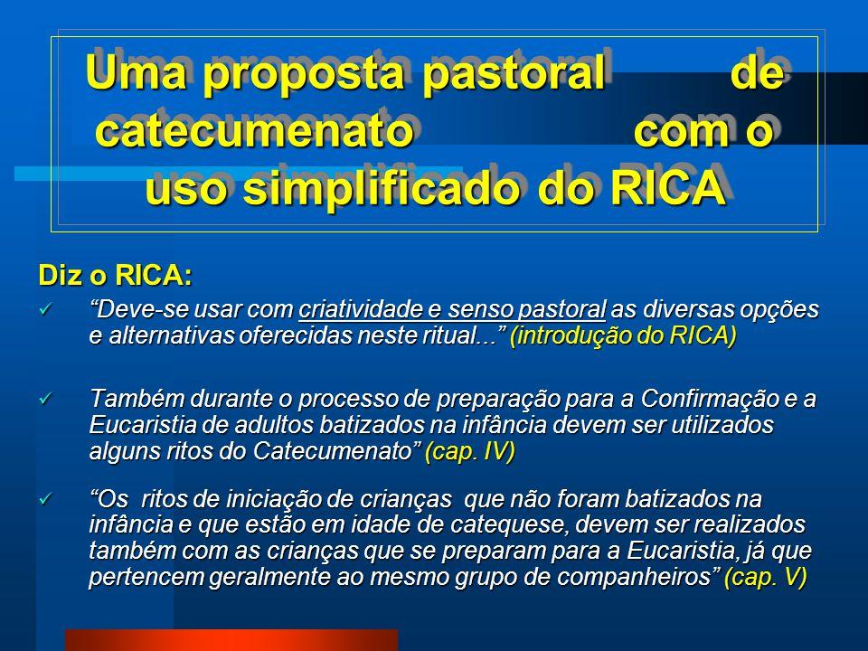 O ITINERÁRIO E AS ETAPAS DA INICIAÇÃO CRISTÃ - CATECUMENATO - conforme o RICA O ITINERÁRIO E AS ETAPAS DA INICIAÇÃO CRISTÃ - CATECUMENATO - conforme o