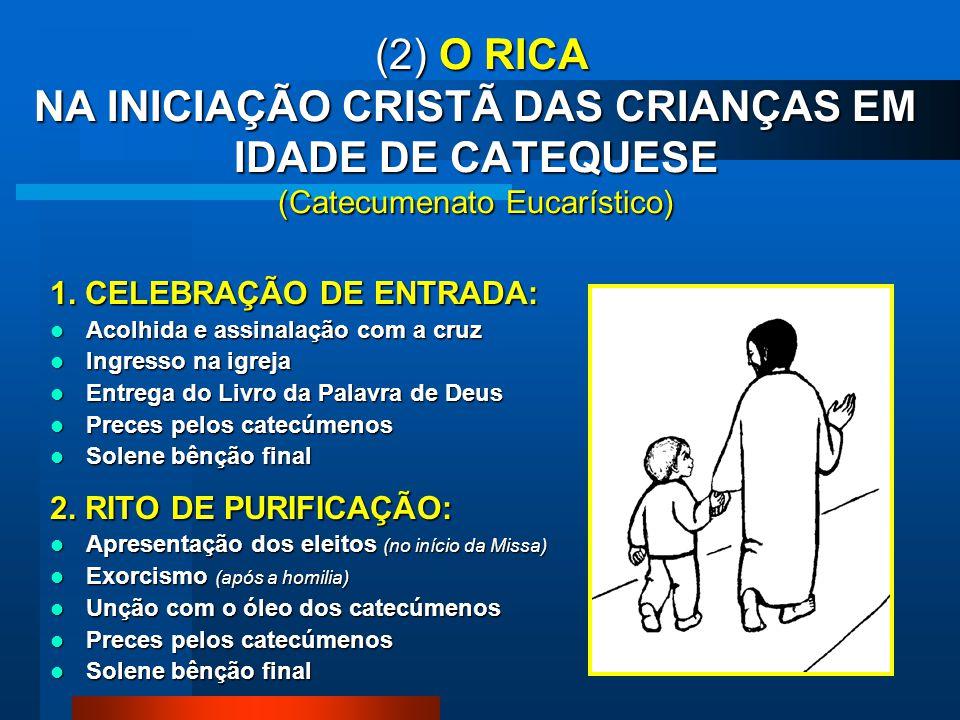 6. CELEBRAÇÃO DOS SACRAMENTOS DA INICIAÇÃO CRISTÃ na Vigília pascal Apresentação dos eleitos e exortação Ladainha dos santos Oração sobre a água Renún