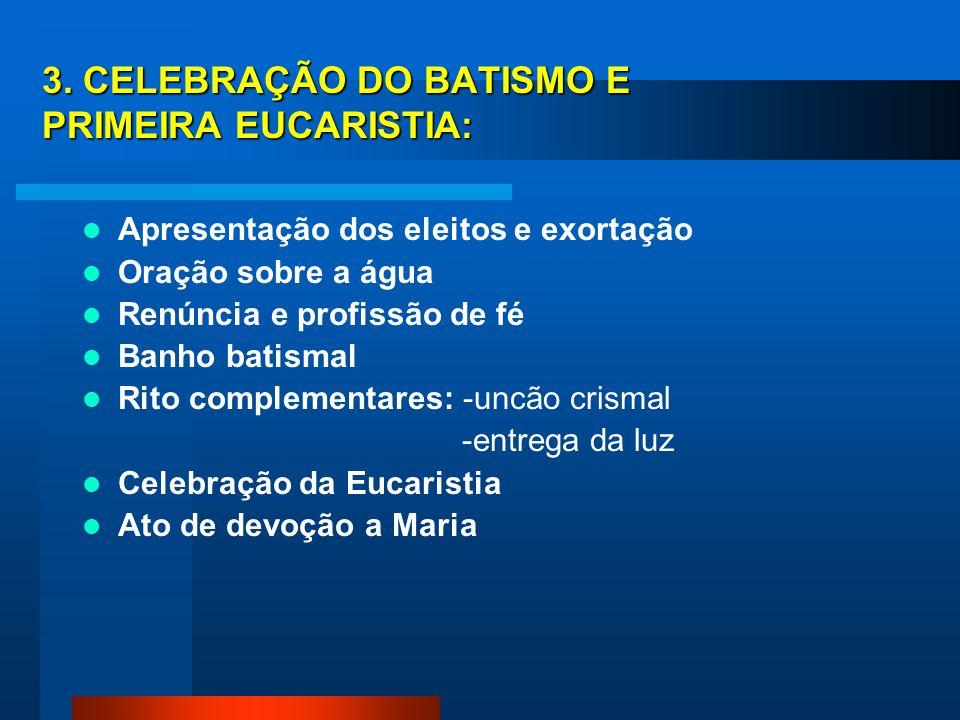 (2) (2) O RICA NA INICIAÇÃO CRISTÃ DAS CRIANÇAS EM IDADE DE CATEQUESE (Catecumenato Eucarístico) 1. CELEBRAÇÃO DE ENTRADA: Acolhida e assinalação com