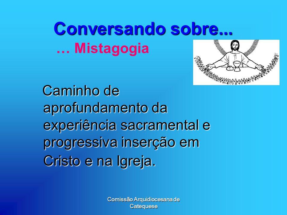 Comissão Arquidiocesana de Catequese Conversando sobre...