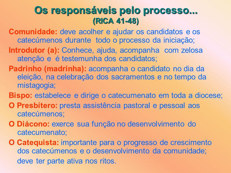 Os responsáveis pelo processo...