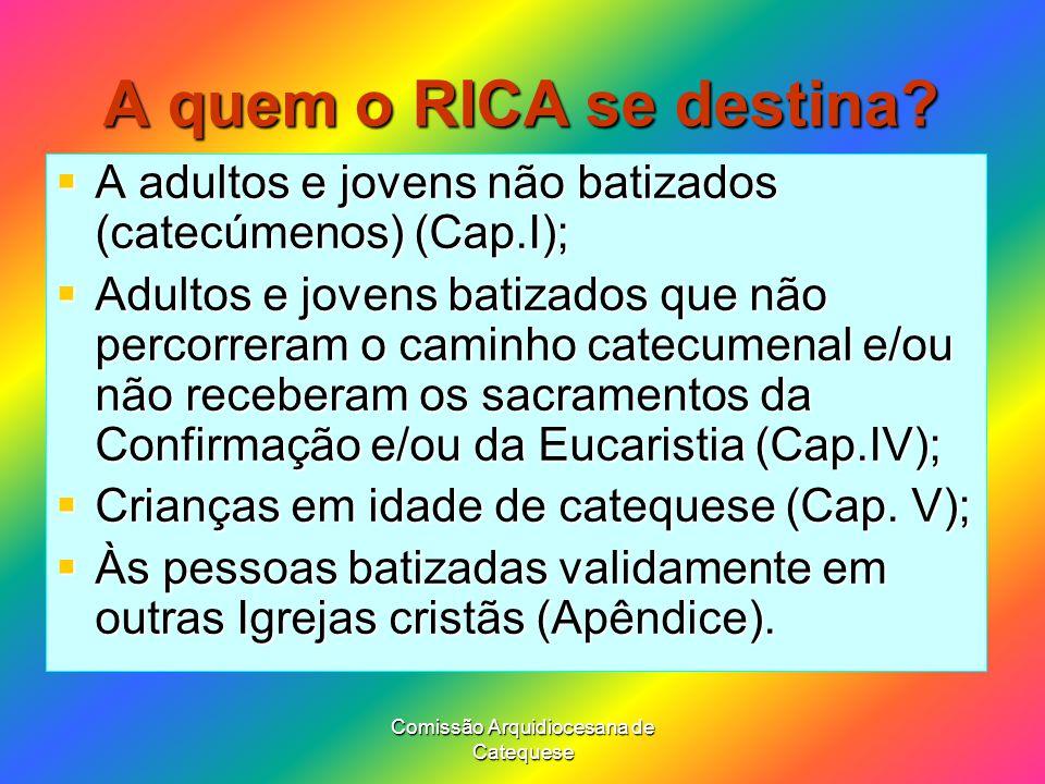 Comissão Arquidiocesana de Catequese A quem o RICA se destina.