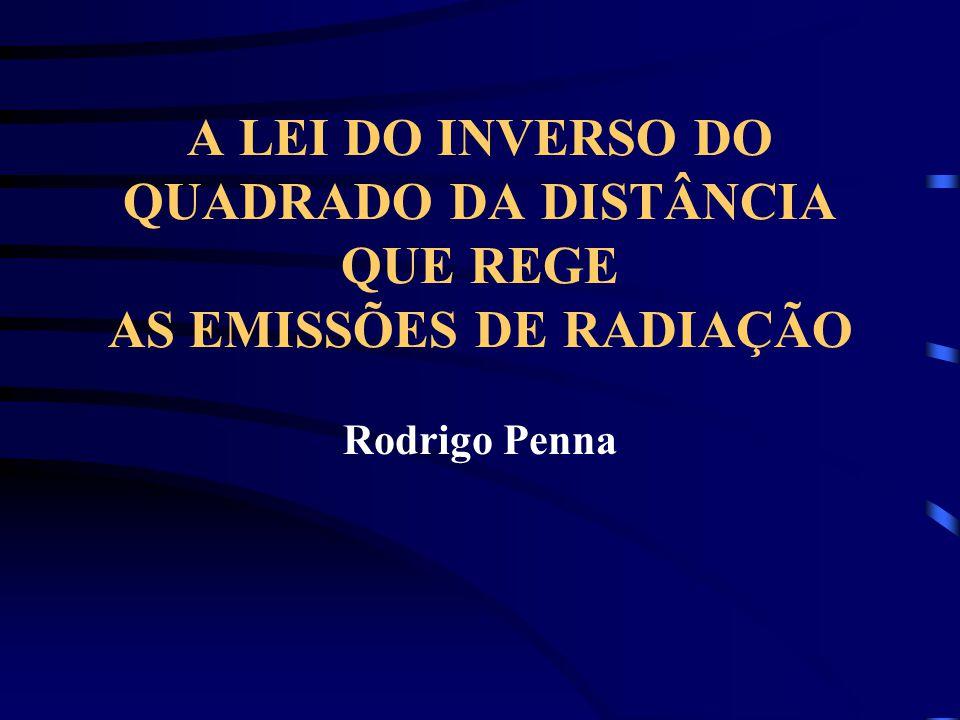 A LEI DO INVERSO DO QUADRADO DA DISTÂNCIA QUE REGE AS EMISSÕES DE RADIAÇÃO Rodrigo Penna