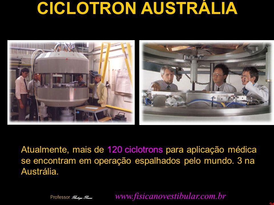26 CICLOTRON AUSTRÁLIA Atualmente, mais de 120 ciclotrons para aplicação médica se encontram em operação espalhados pelo mundo. 3 na Austrália. Profes