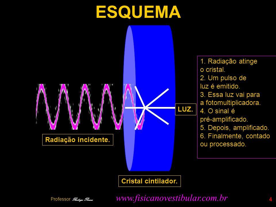 Professor Rodrigo Penna 5 BASES FÍSICAS - 1 LNúcleos instáveis sofrem um processo de DECAIMENTO RADIOATIVO.