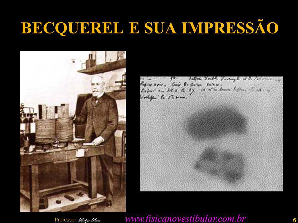 6 BECQUEREL E SUA IMPRESSÃO Professor Rodrigo Penna www.fisicanovestibular.com.br