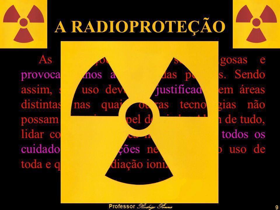 9 Professor Rodrigo Penna A RADIOPROTEÇÃO As Radiações podem ser perigosas e provocar danos à saúde das pessoas.