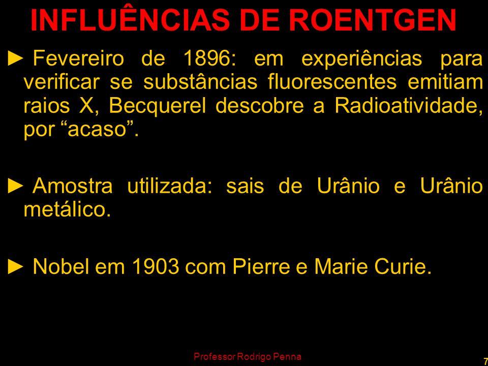8 BECQUEREL E SUA IMPRESSÃO Professor Rodrigo Penna www.fisicanovestibular.com.br
