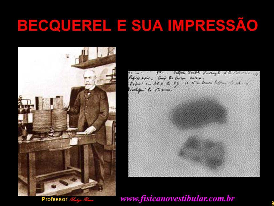 9 Professor Rodrigo Penna O CASAL CURIE Em 1898, Pierre e Marie Curie anunciam a descoberta do Polônio e do Rádio, respectivamente.