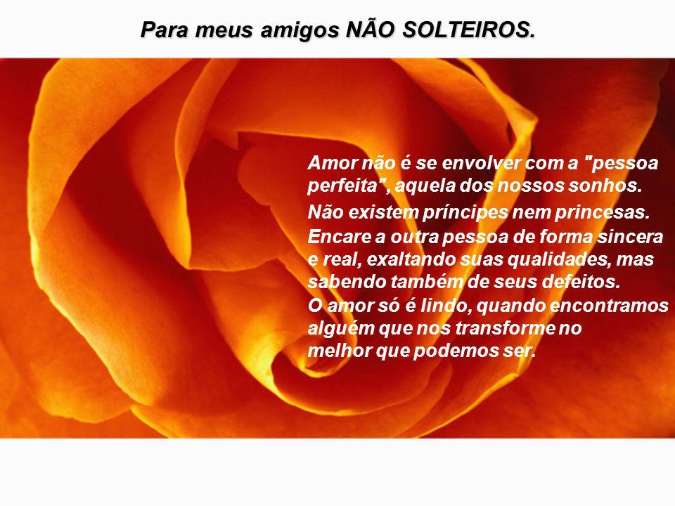 Para meus amigos que estão SOLTEIROS: O amor é como uma borboleta. Por mais que tente pegá-la, ela fugirá. Mas quando menos esperar, ela estará ali do