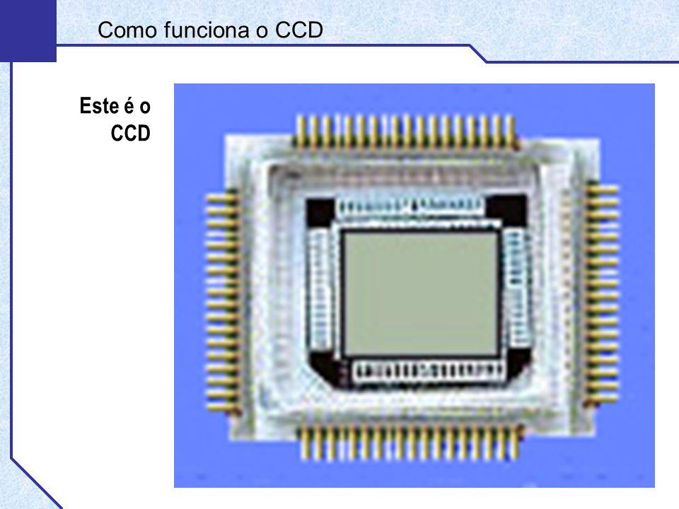 Como funciona o CCD Este é o CCD