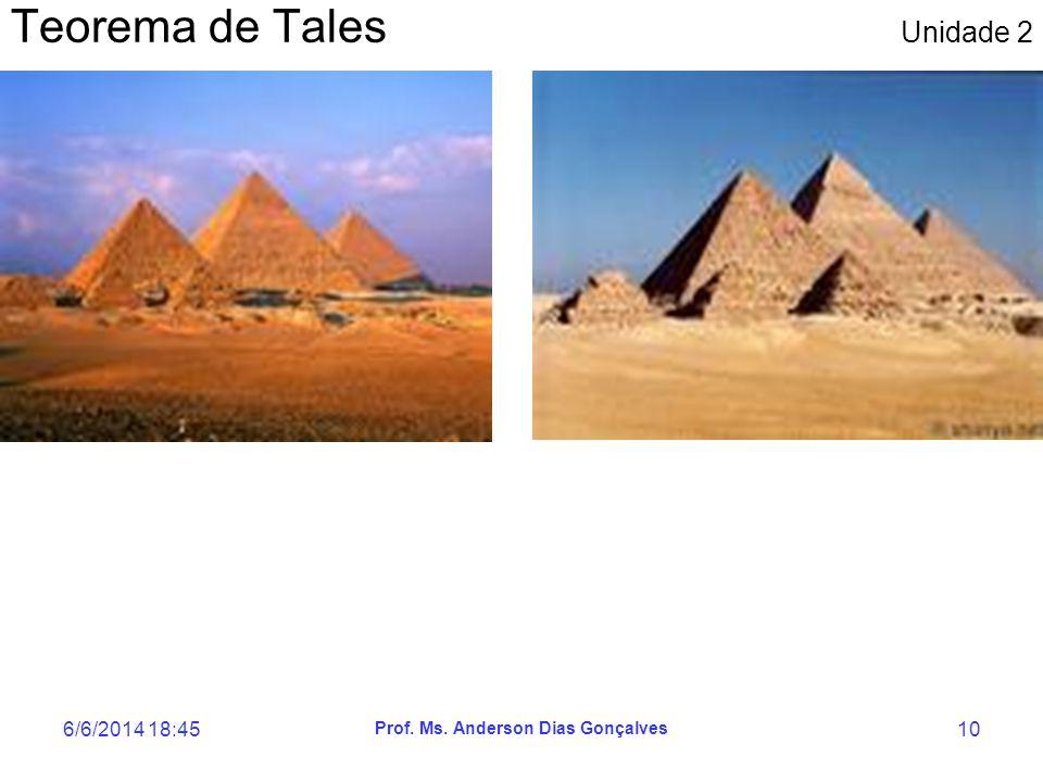 6/6/2014 18:47 Prof. Ms. Anderson Dias Gonçalves 10 Teorema de Tales Unidade 2
