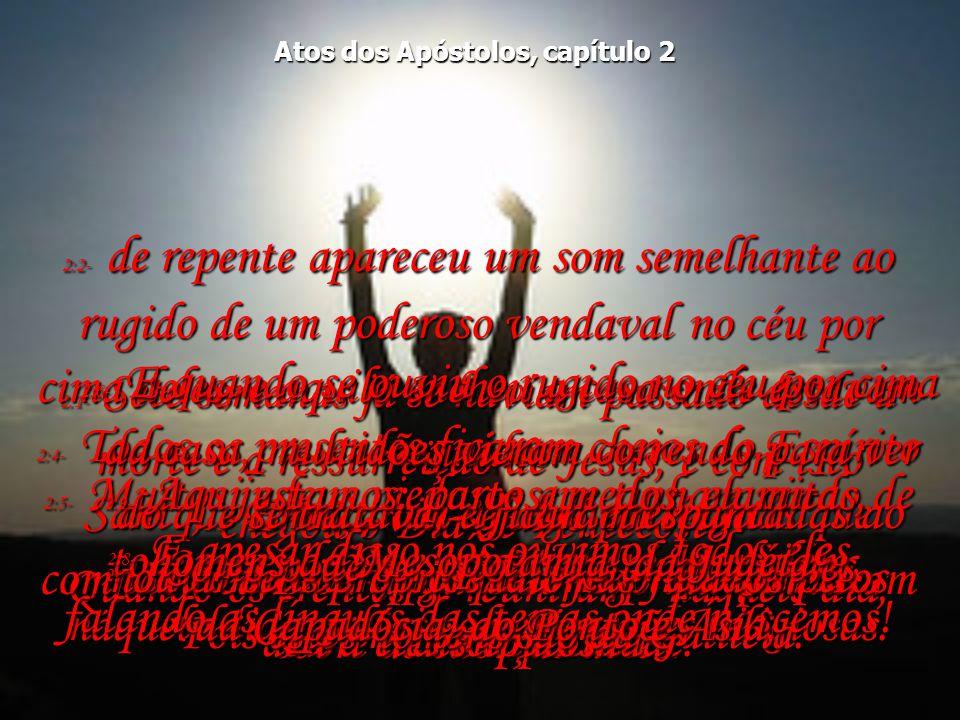 2:1- Sete semanas já se haviam passado desde a morte e a ressurreição de Jesus, e com isto chegou o Dia de Pentecoste.