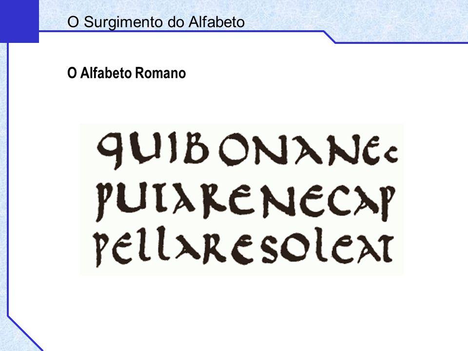 O Alfabeto Romano O Surgimento do Alfabeto