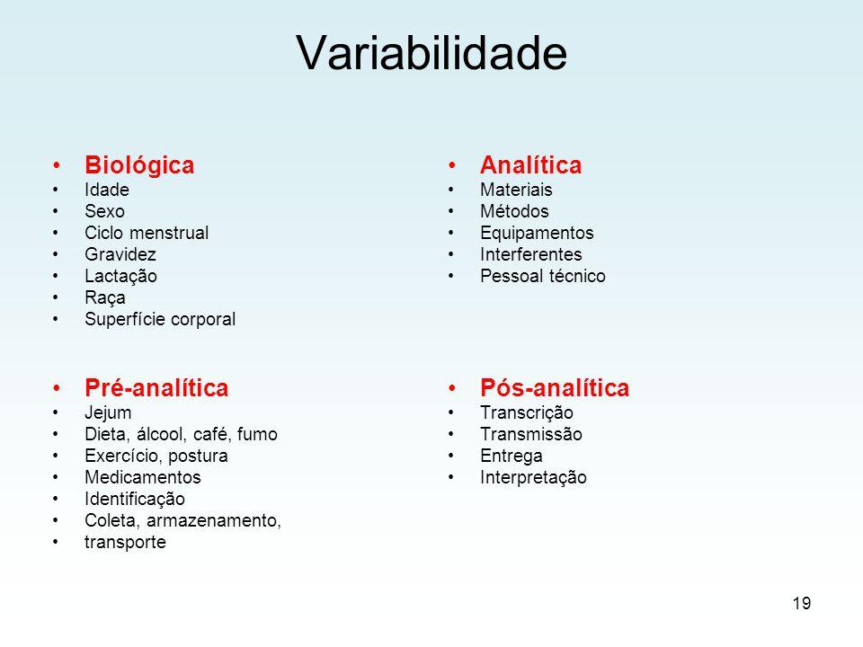 Como controlar a variabilidade .