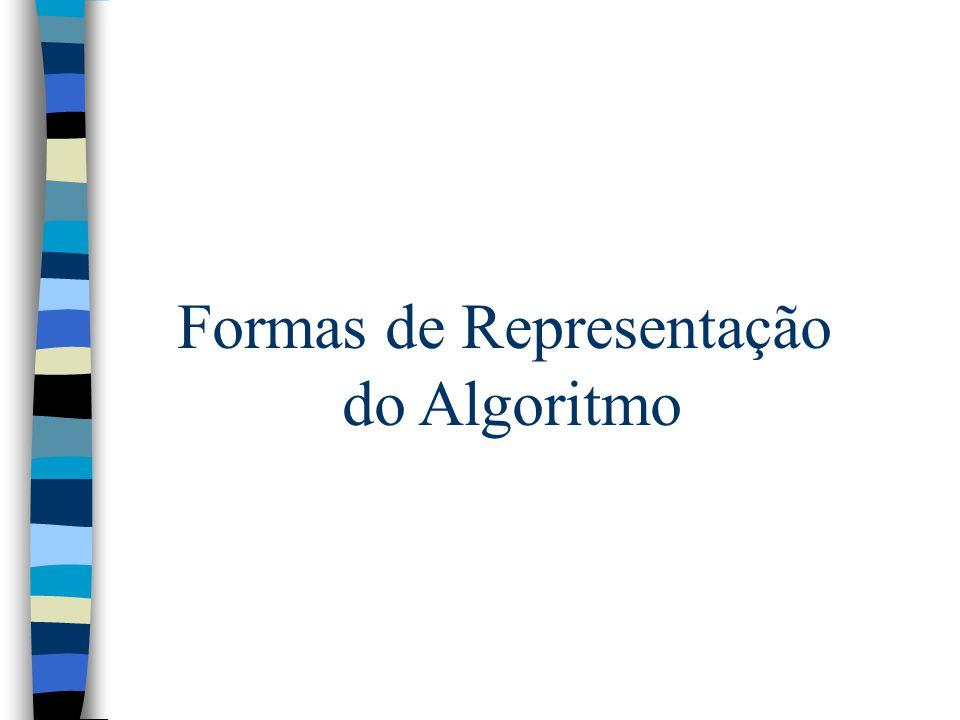 Formas de Representação do Algoritmo